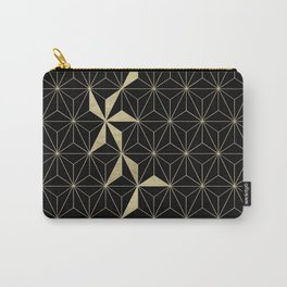 Gold Flower Geo Glam #1 #geometric #decor #art #society6 Carry-All Pouch