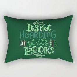 Hoarding Books - Green Rectangular Pillow
