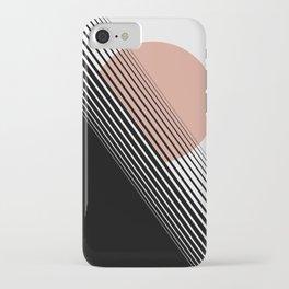 Rising Sun Minimal Japanese Abstract White Black Rose iPhone Case
