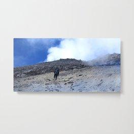 BLUE SKY NEAR VOLCANO LAKE MERAPI MOUNTAIN Metal Print