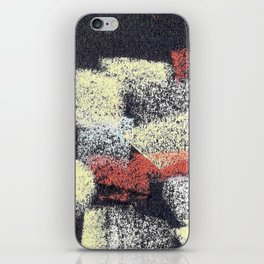 Multicolor abstract black iPhone Skin