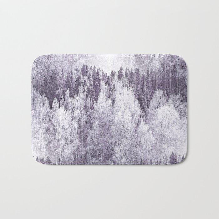 Captivating landscape - beautiful forest in winter colors Bath Mat