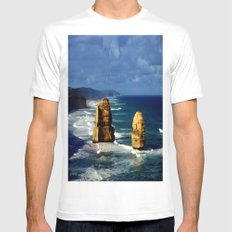 Limestone Rock Stacks & Headlands Mens Fitted Tee White SMALL
