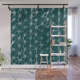 Japanese Geometry - Emerald Wall Mural