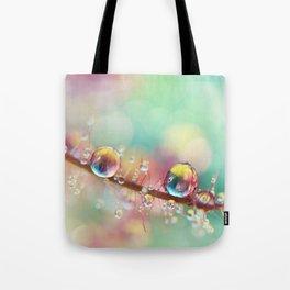 Rainbow Smoke Drops Tote Bag