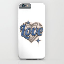 Vintage heart iPhone Case