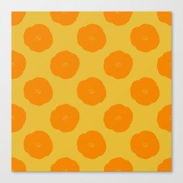 Citrus Color Botanical Pattern Canvas Print