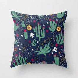 Cactus Blossoms  Throw Pillow