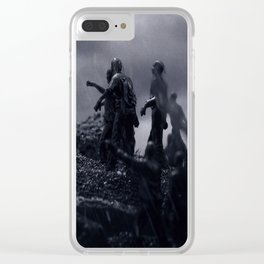 TWD Zombie Cliffhanger Clear iPhone Case