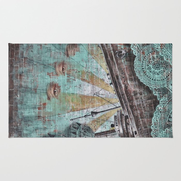 the boat wall Rug