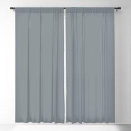 Dark Slate Blue Gray Solid Color Parable to Valspar Sharkfin 4007-2A Blackout Curtain