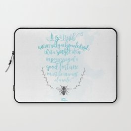 A Truth Universally Acknowledged  Laptop Sleeve