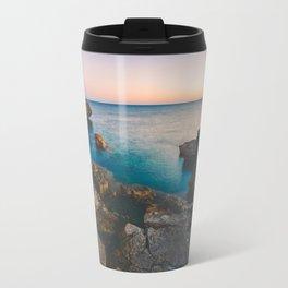 Rock beach paradise Travel Mug