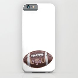 football _ LSU Tigers iPhone Case
