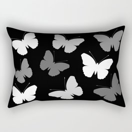 Monochrome Butterflies Rectangular Pillow