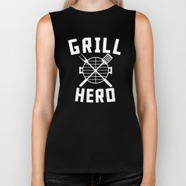 Grill Hero BBQ Barbeque Spatula And Fork Biker Tank