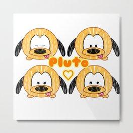 Pluto Tsum Tsum Metal Print