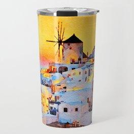 Sunset at MyKonos Travel Mug