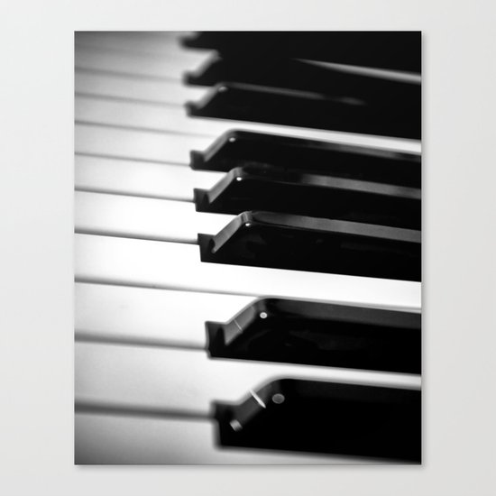 Black & White Piano Keys Canvas Print
