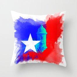 San Juan P.R Watercolor Throw Pillow