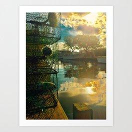 Colington Crabbers Art Print