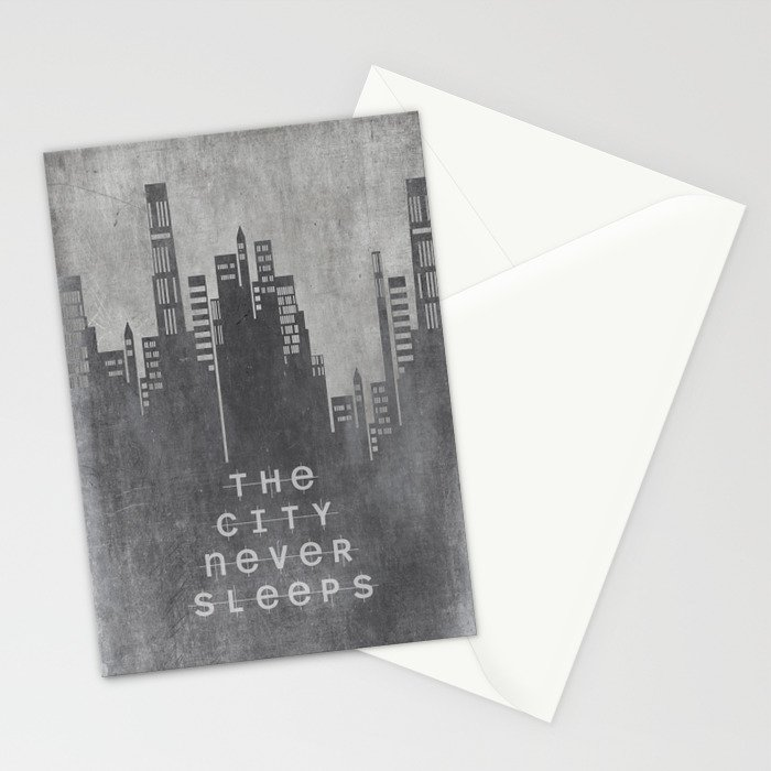 The City Never Sleeps Stationery Cards
