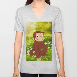 Monkeying Around Unisex V-Neck