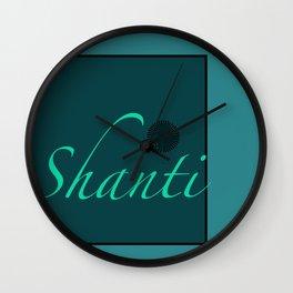 Shanti Blue Wall Clock