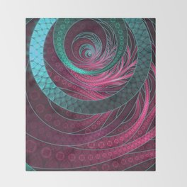 Abstract Bangles of Very Berry Bubblegum Bands Throw Blanket