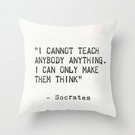 SOCRATES quote 5 Throw Pillow