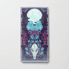 OUTFOX DEATH Metal Print