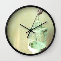 cage Wall Clocks featuring Cage by Artemysia