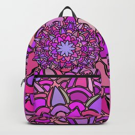Mandala Pink Peach Purple Backpack