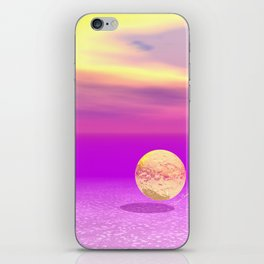 Adrift, Abstract Gold Violet Ocean iPhone Skin