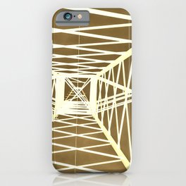 Electric pylon - Abstract Monochrome iPhone Case