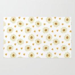 Fashion Lovely Flower Pattern Art Rug