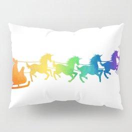 Santa's Unicorns Pillow Sham