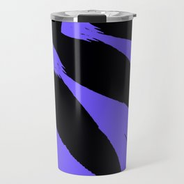 The Modern Flower Black and Periwinkle Purple Travel Mug