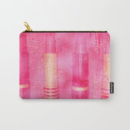 Four Tubes of Lipstick Carry-All Pouch