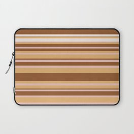 Coffee color stripes Laptop Sleeve