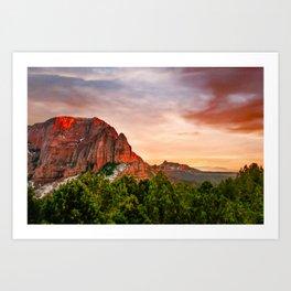Kolob Canyons Zion Fine Art Print Art Print