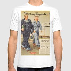 1942 Working Together Cover White Mens Fitted Tee MEDIUM