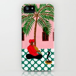 Snake charmer iPhone Case