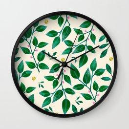 Rubber Plant Pattern Wall Clock