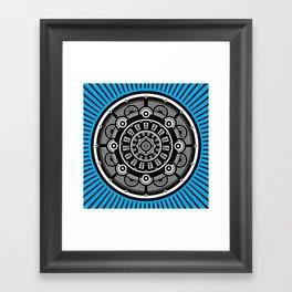 Modern Mandala (Blue) Framed Art Print
