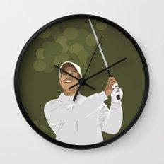 Tiger Woods Wall Clock