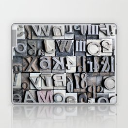 Letterpress Laptop & iPad Skin