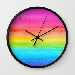 Rainbow Gradient Wall Clock