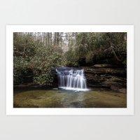 water fall Art Print