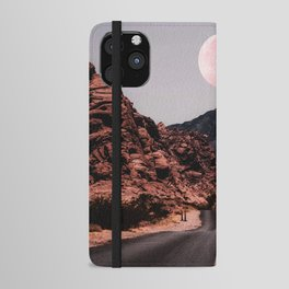 Road Red Moon iPhone Wallet Case